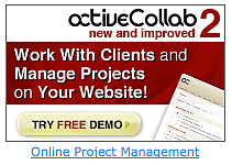 An ad for activecollab.com